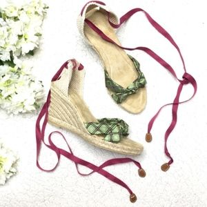 J. Crew Collection Espadrille Lace Up Wedges Italy